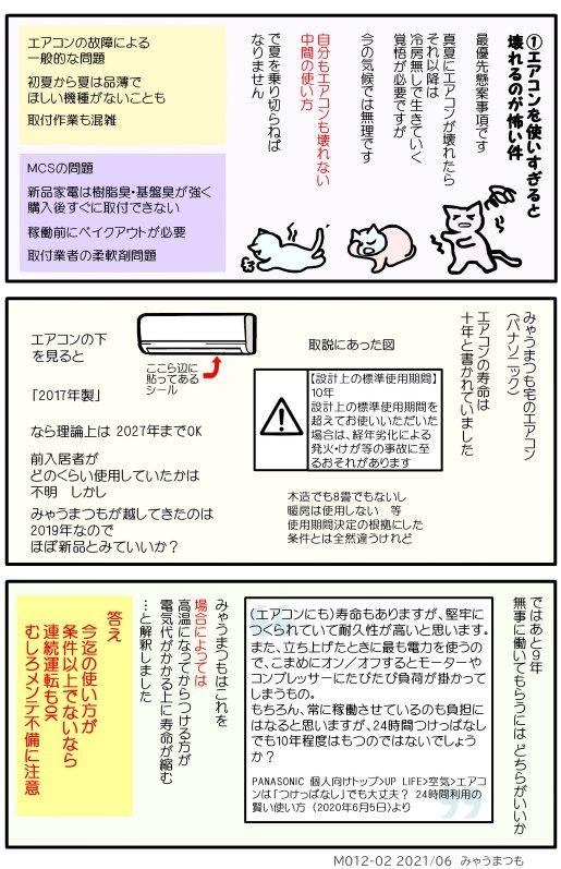 エアコンと節約機械寿命と健康と電気代M012-02