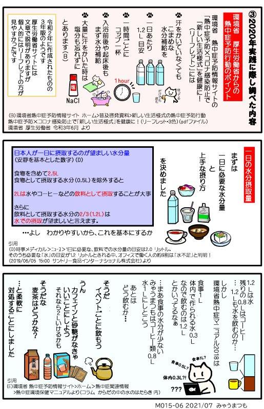 化学物質過敏症脱水症予防と水分補給M015-06