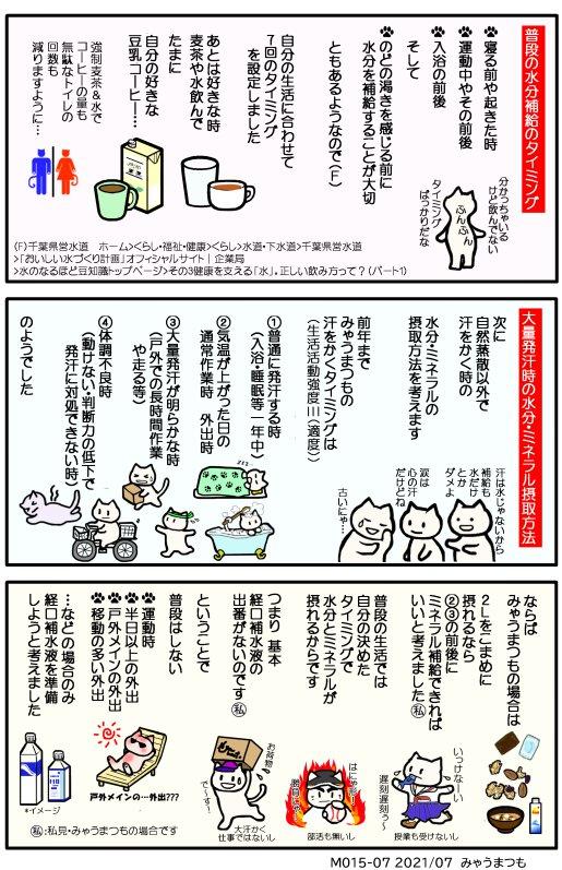 化学物質過敏症脱水症予防と水分補給M015-07