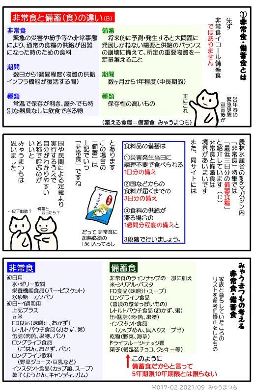非常食・備蓄食の違い M017-02
