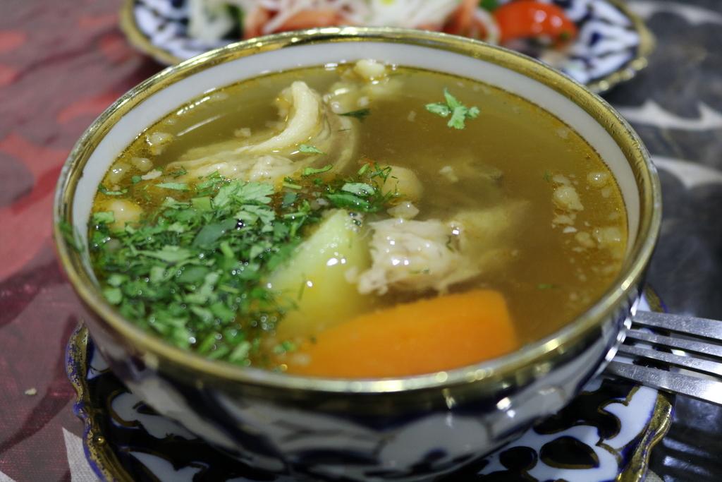 ウズベキスタン 料理 ショールヴァ