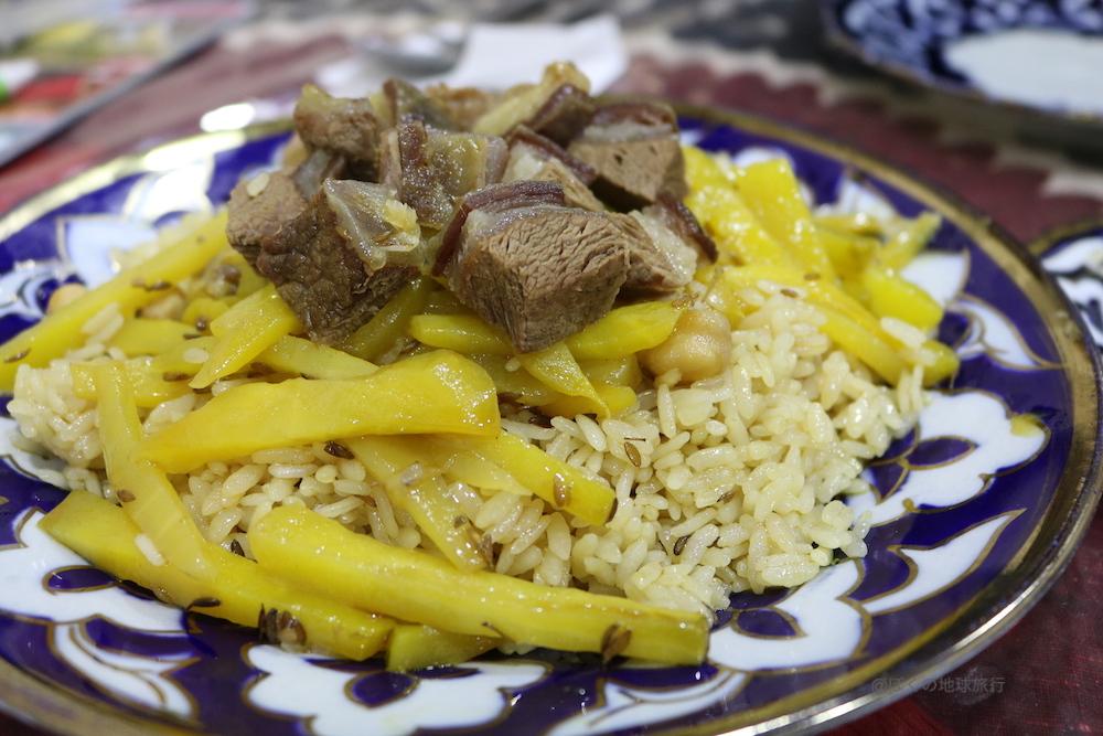 ウズベキスタン サマルカンド 観光 旅行 食事 料理 プロフ