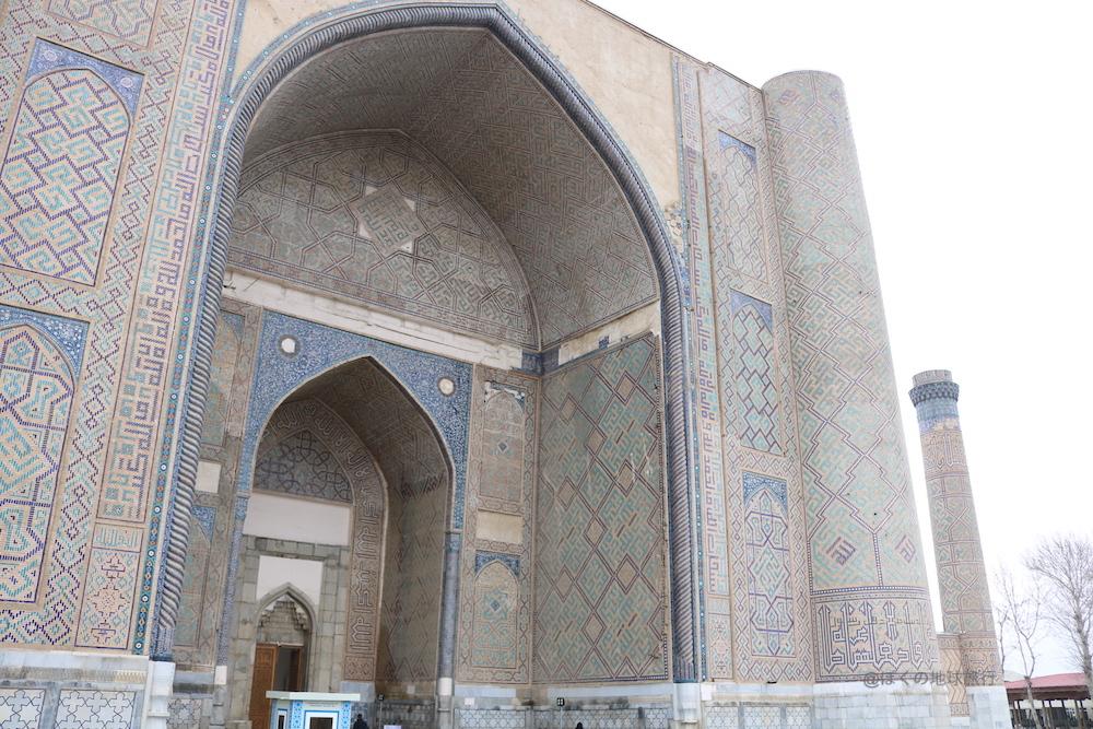 ウズベキスタン サマルカンド 観光 旅行 ビビハニムモスク