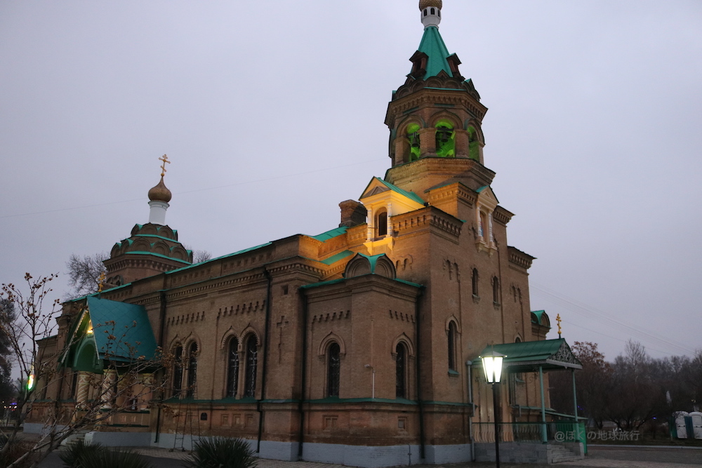 ウズベキスタン サマルカンド 観光 旅行 街歩き 夜