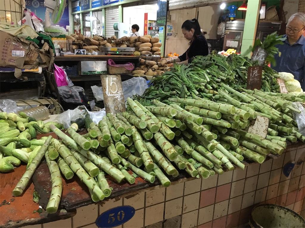 中国 重慶 学田湾 太陽溝菜市場 青笋