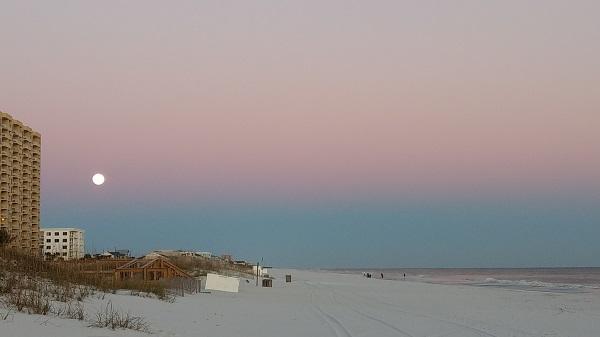 Pensacola Beachの夕日