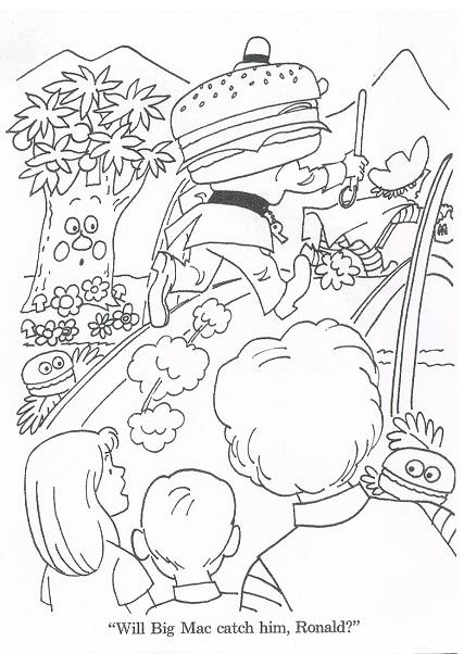 商用利用はご遠慮ください。1974年 U.S McDonald'sの塗り絵です