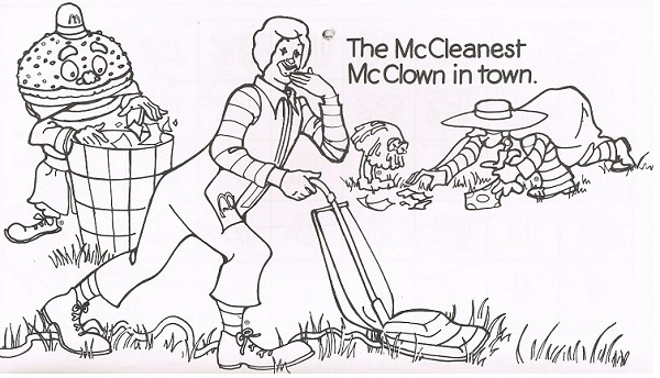 商用利用禁止。U.S McDonald's Coloring 1977 My Favorite