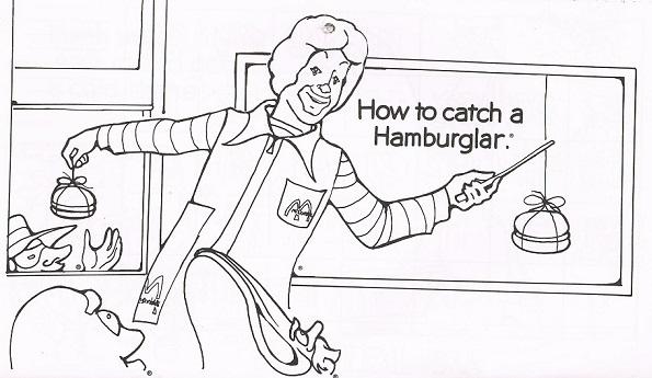 Vintage McDonald's Coloring Calendar 1977年 商用使用禁止 My Favorite