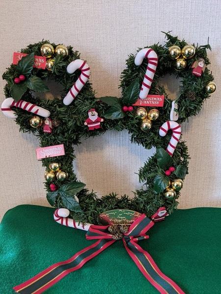 クリスマスリース ミッキーマウス なっちゃんのにこにこブログ