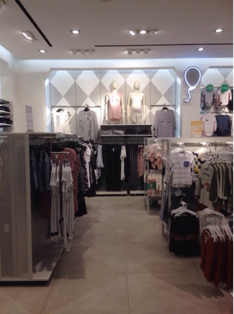 H&M新宿のマタニティフロア