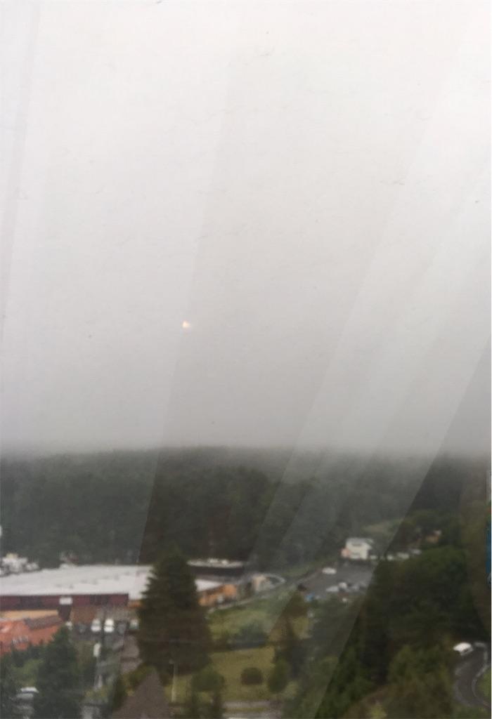 あいにくの雨、富士山見えない