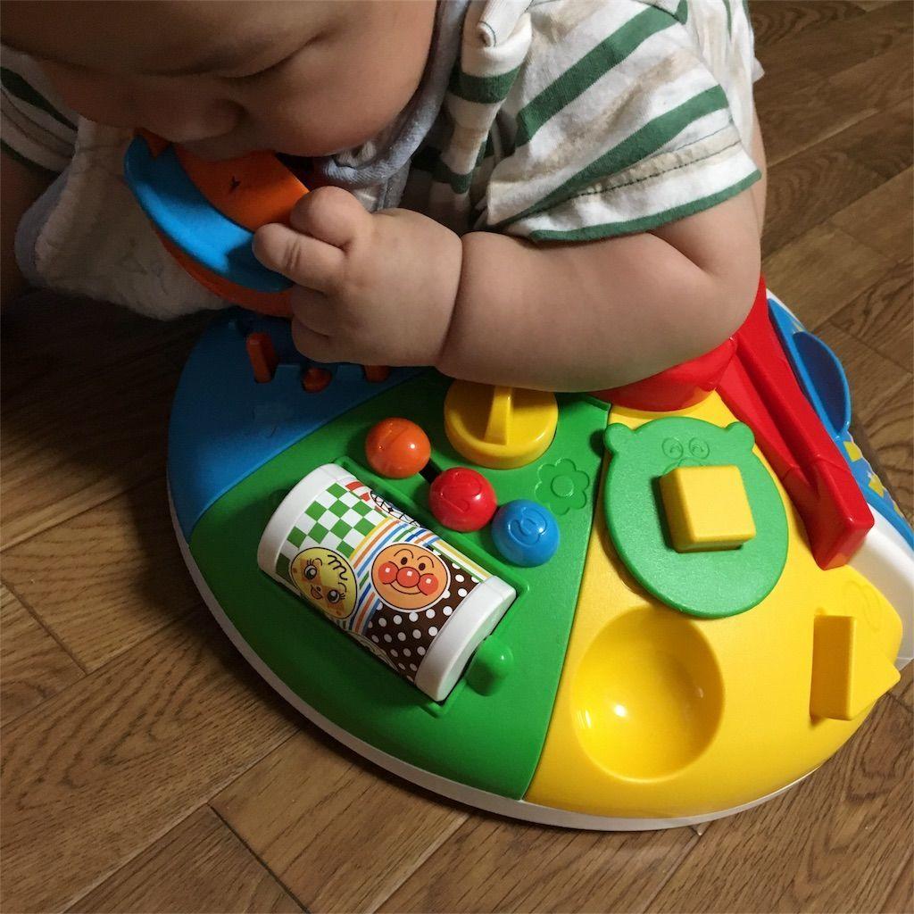 1歳児にオススメのおもちゃべビラボ アンパンマン ~脳を育む~ まんまる! いたずらあそびDX