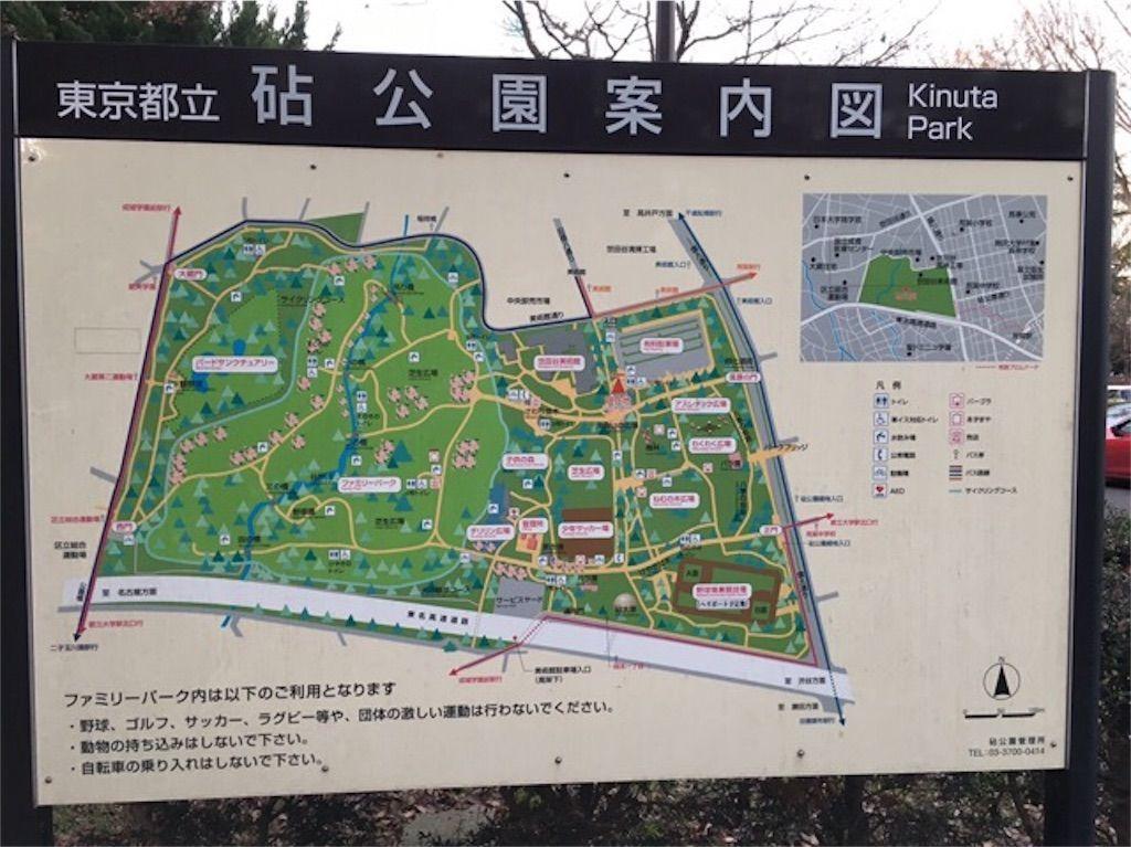 砧公園の地図