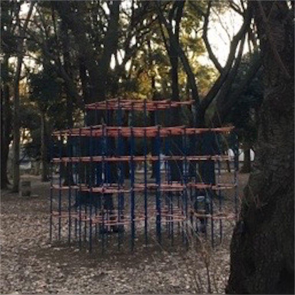 砧公園のジャングルジム