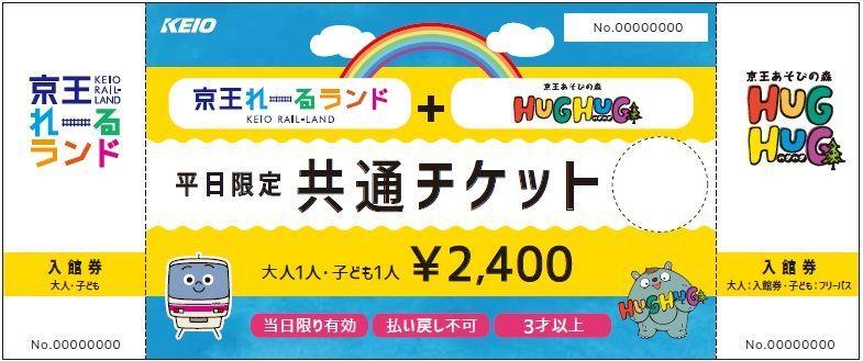 京王レールランドとハグハグの共通チケット