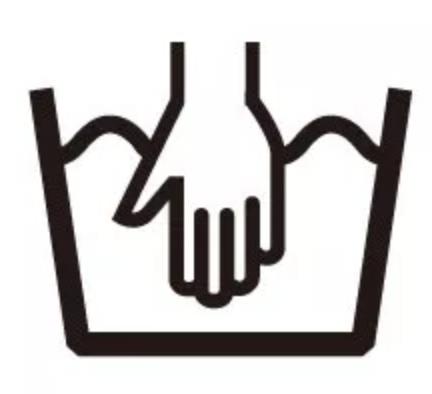 ピッタマスクの洗濯表示