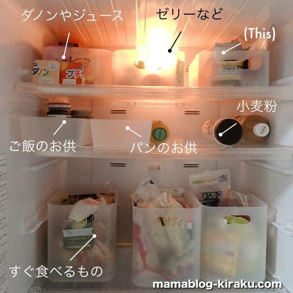 無印良品の収納で冷蔵庫がスッキリ片付きました!