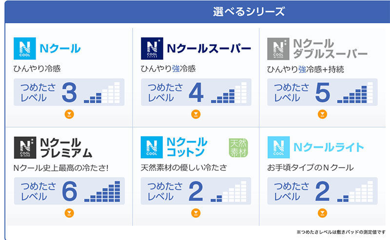 ニトリNクールは6種類!