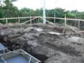 三尾砂記念館を建築中