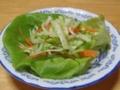 ピクルスドレッシングのサラダ