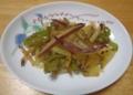 薩摩芋とピーマンの金平