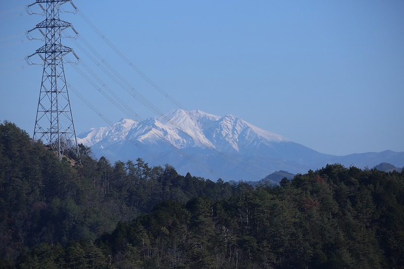城山から御嶽山がみえる