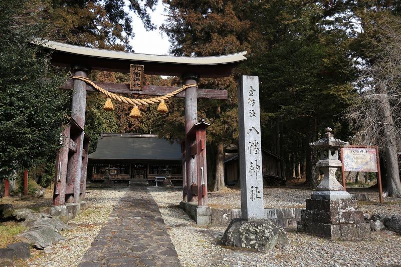 """上之保地域の村社""""八幡神社"""""""