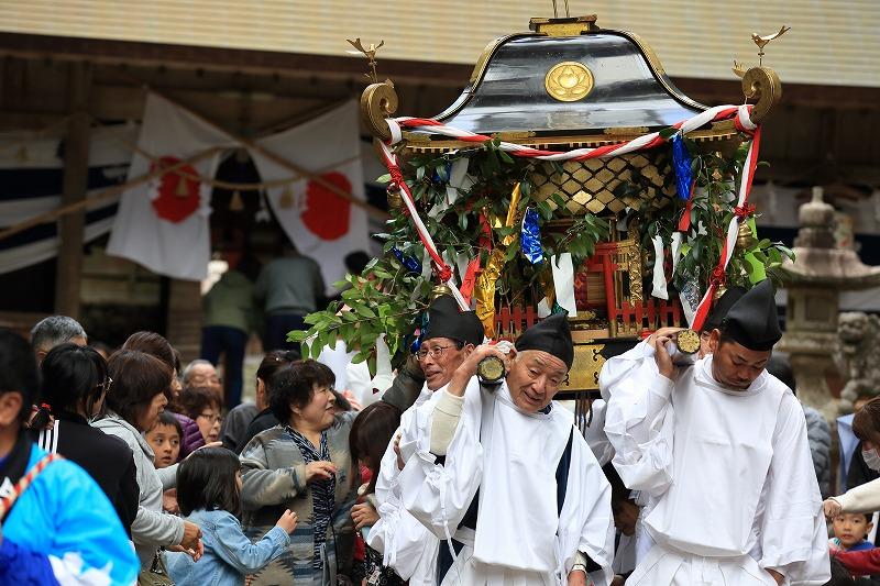 明治初頭以前から続く、上之保・八幡神社の例祭