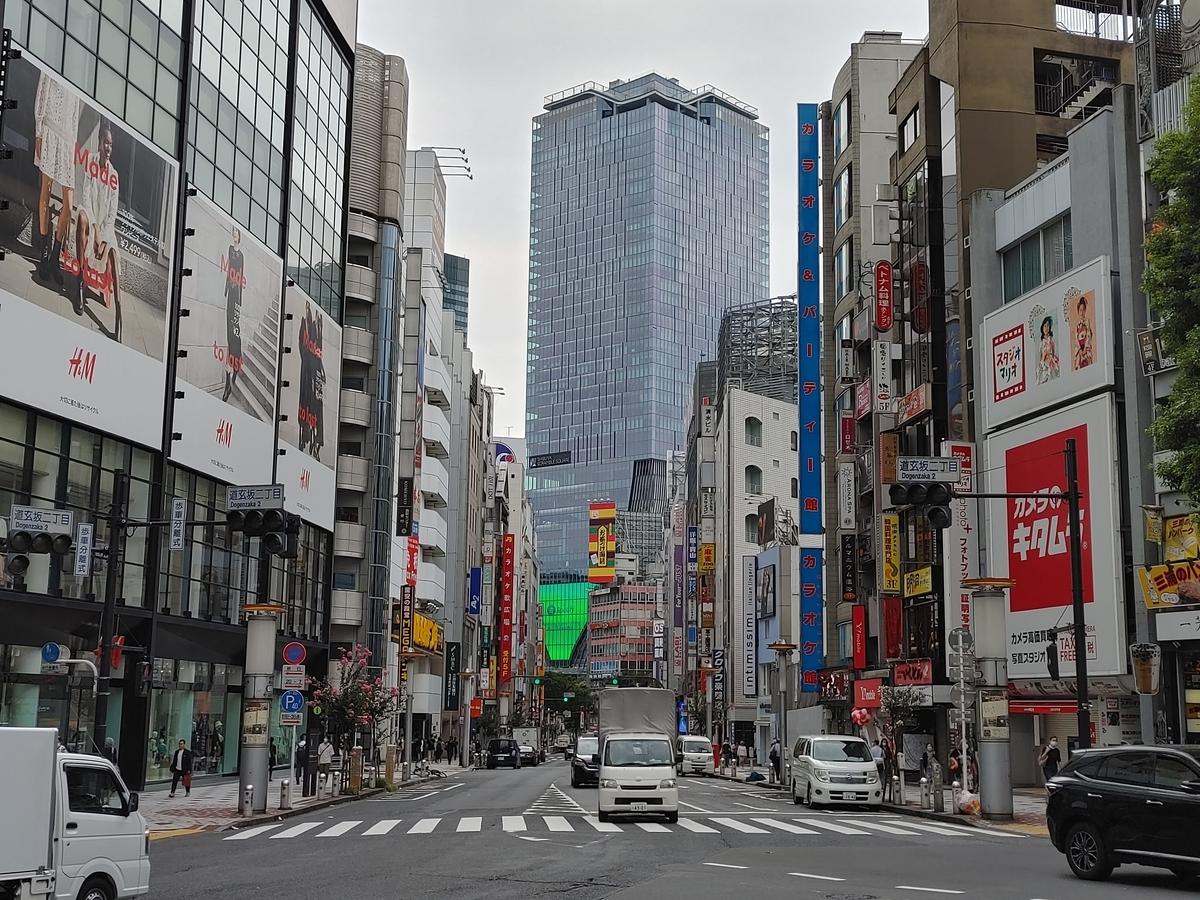 2020年の渋谷・文化村通り
