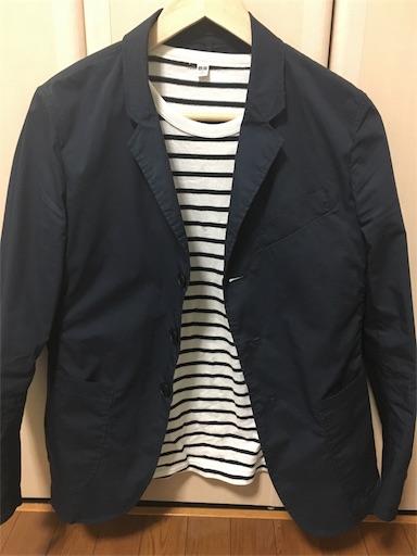 ユニクロのライトウェイトジャケットのコーディネート例