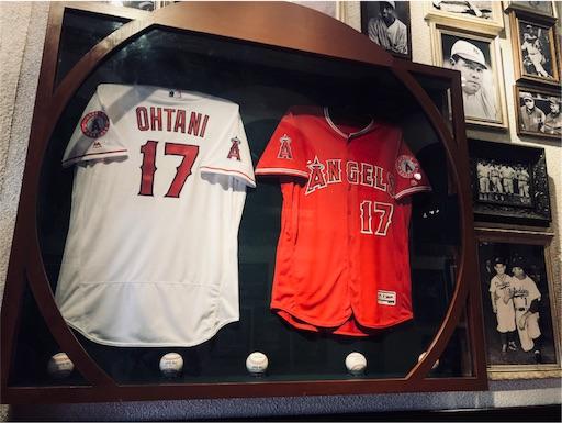 MLBカフェ東京ドームシティ店の大谷翔平のユニフォーム