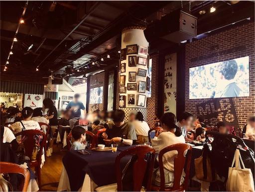 MLBカフェ東京ドームシティ店の店内