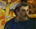 ゴーギャン「黄色いキリストのある自画像」