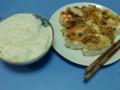 鶏ムネパン粉焼き おろしダレベース+たまねぎ