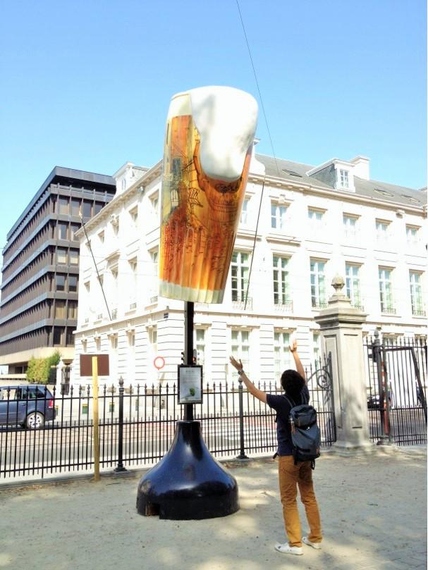 ビールに襲われる!