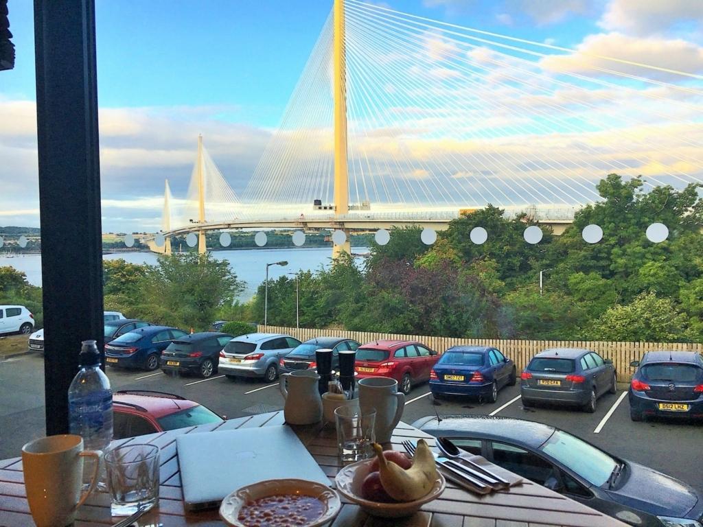 夕食時のレストランからの眺め
