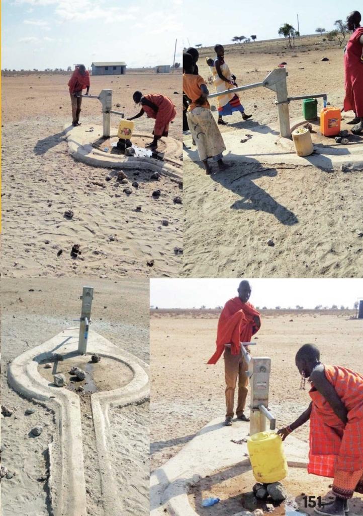 村の井戸を修理した