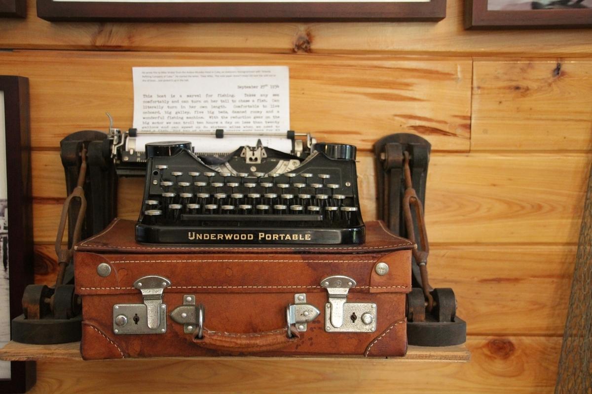 ヘミングウェイが使ったタイプライター