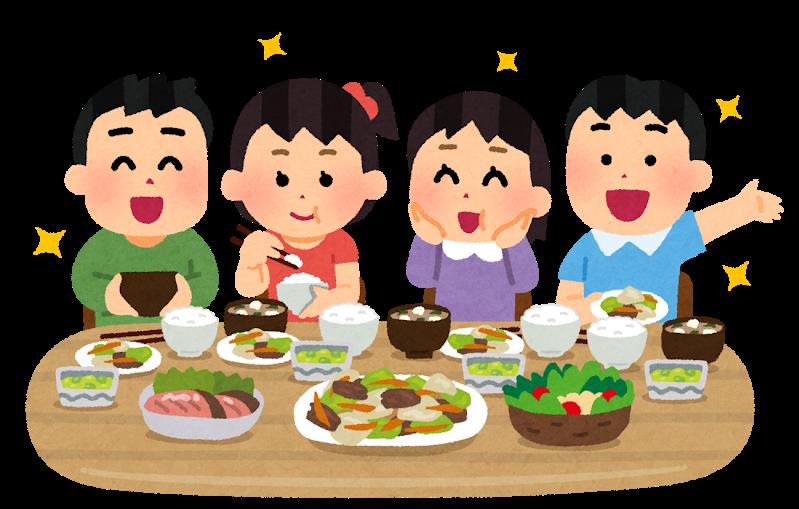 ご飯をたくさん食べる人たち