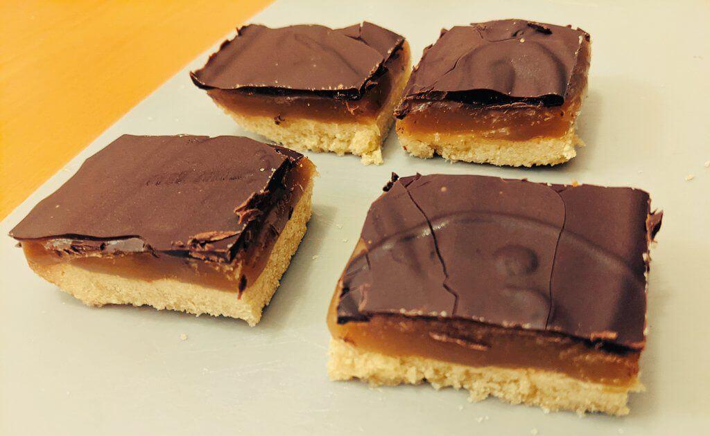 ミリオネアショートブレッド作り -イギリスのお菓子ー【ビーガン】:plain