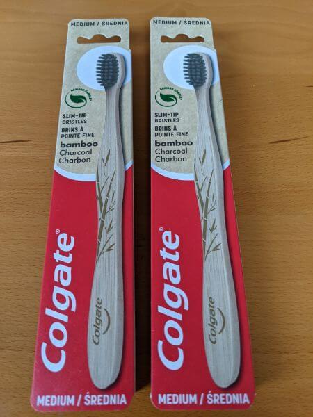 竹歯ブラシ:Colgate:plain