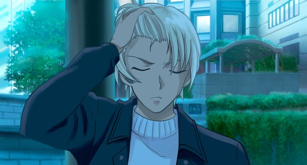 ゼロの執行人、髪をかきあげるシーン