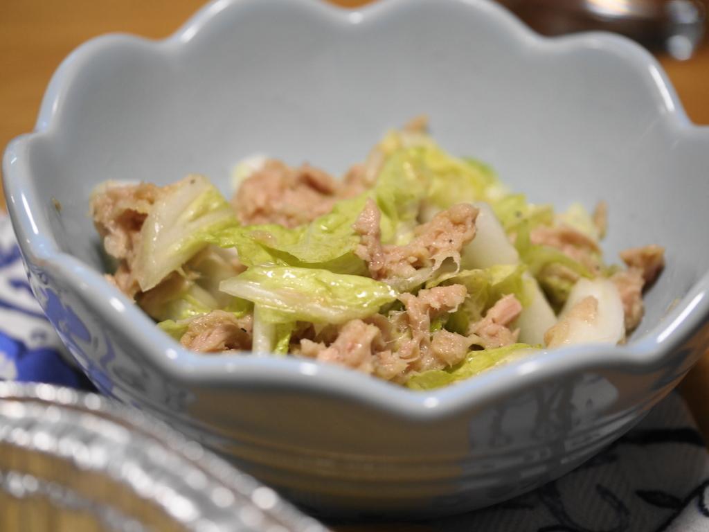 ツナと白菜の塩レモン