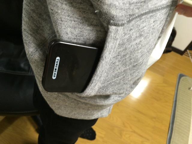 パーカーのポケット