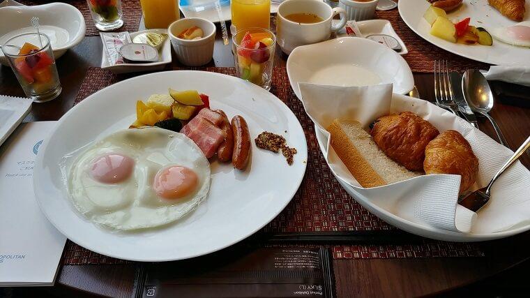 ホテルメトロポリタン丸の内洋食セット(朝食)