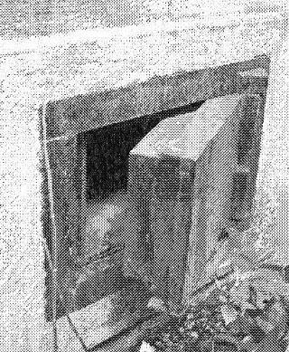 廃業した現在も当時の蔵は残されています。 蔵の側面の通風孔はその扉の厚さからも頑丈さが伺えます。