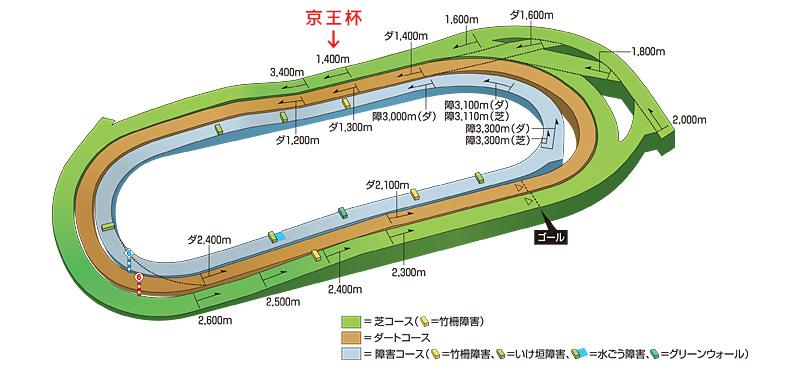 東京競馬場1,400芝