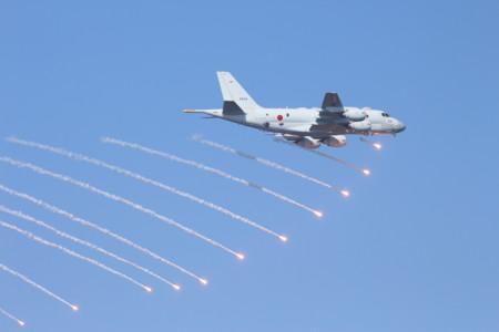 IRフレア発射(航空機)
