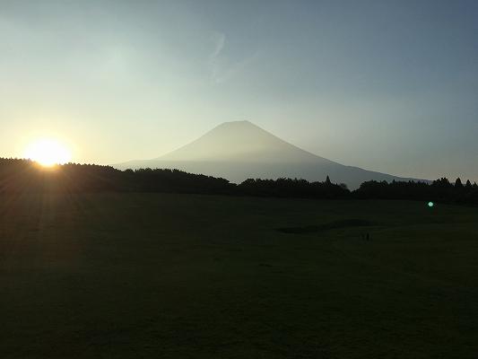 朝霧アリーナ 日の出